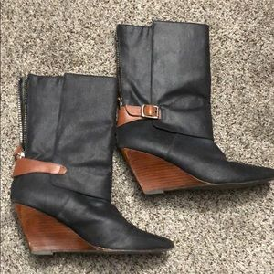 Waxed Linen Anthropologie Boots